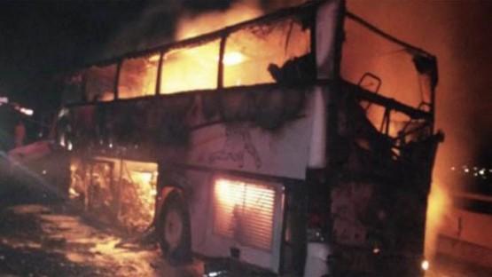 മദീനയ്ക്കടുത്ത് ബസ്സിൽ തീപിടിത്തം;35 തീർത്ഥാടകർ മരിച്ചു